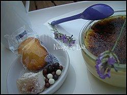 Crème Brûlée à la Lavande et un petit Café Gourmand