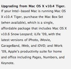 Snow Leopard : pas de rabais pour les utilisateurs de Tiger