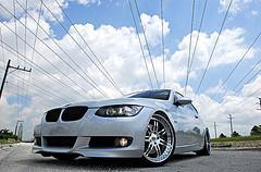 07 BMW 335i on SEVAS WHEELS R77