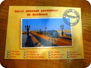Carte postale bordelaise