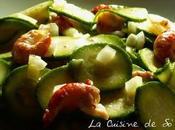 Salade, toute fraîche, courgettes queues d'écrevisses