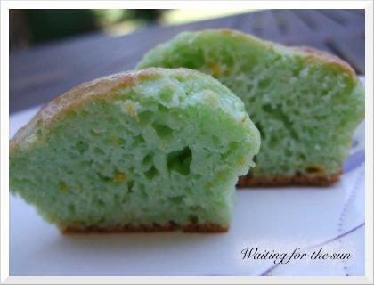 muffins au curacao et l 39 orange ou comment faire du vert avec du bleu paperblog. Black Bedroom Furniture Sets. Home Design Ideas