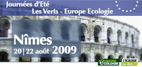 Inscrivez-vous aux journées d'été Les Verts - Europe Ecologie