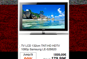 tv lcd hd samsung 132 cm en solde 90 d couvrir. Black Bedroom Furniture Sets. Home Design Ideas