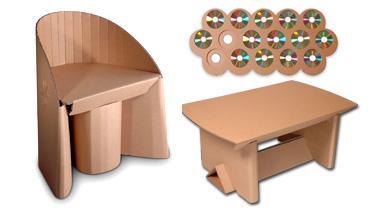 fabriquer ses meubles en carton tendance ecolo. Black Bedroom Furniture Sets. Home Design Ideas