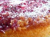 Gâteau framboises noix coco caramélisées