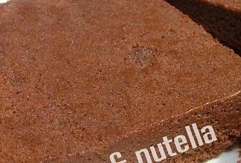 g teau l ger et mousseux au nutella sans beurre paperblog. Black Bedroom Furniture Sets. Home Design Ideas