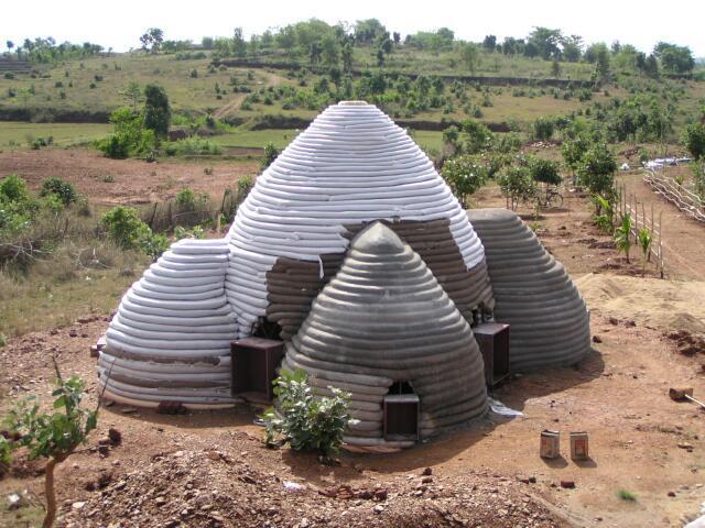 Une maison pas finie en Inde