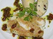 cabillaud croute d'anchois purée olives.