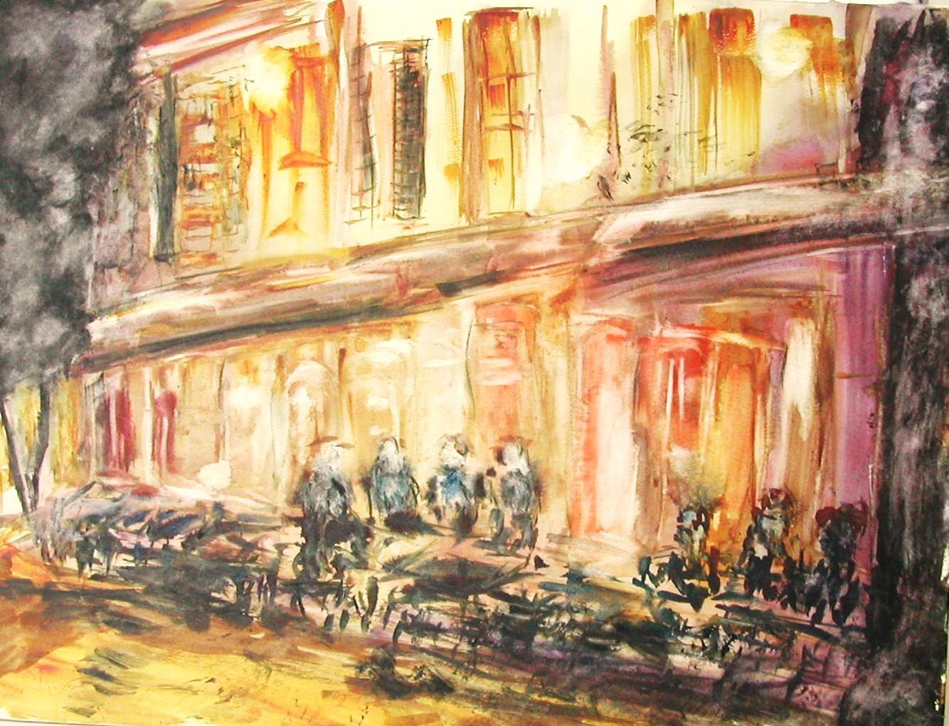 Terrasse De Cafe La Nuit C Est Le Titre Que Je Voulais Donner A