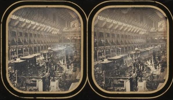 Vue du Palais de l'Exposition universelle de 1855