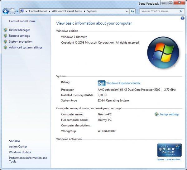 Windows 7 pas mieux que Vista ?