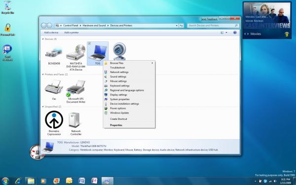 Sortie de Windows 7 RC le 10 avril 2009