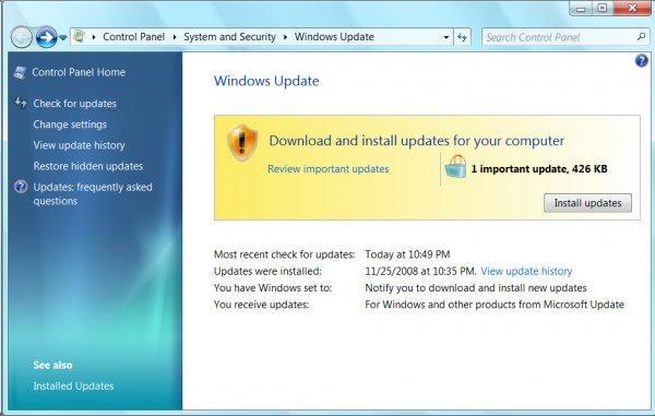 Microsoft va tester le systčme de mises ŕ jour de Windows 7