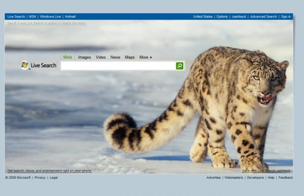 Live.com fait la promo de Mac OS Snow Leopard ?