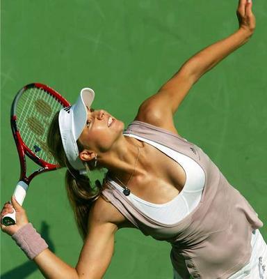 Je supporte Maria Kirilenko au U.S Open