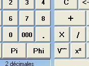 Calculette (CalcCF) Standard