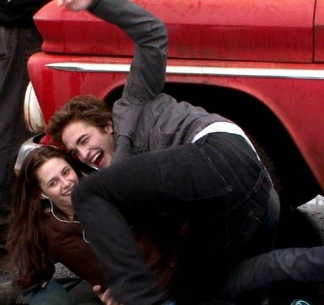 Twilight Fascination : souvenir de tournage (photos) - Ils ont l'air de bien rire