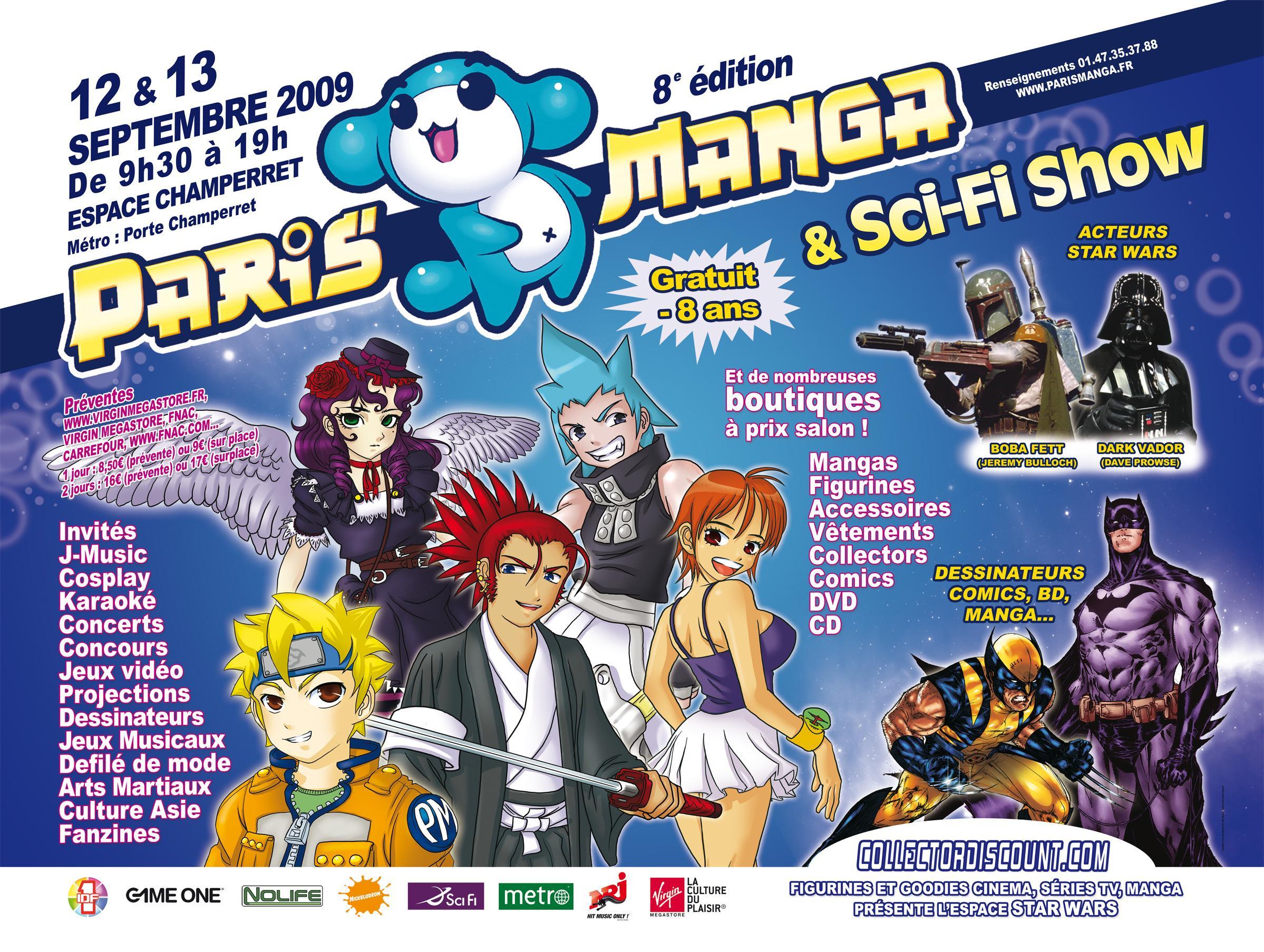 Salon paris manga 12 et 13 septembre 2009 espace for Salon manga paris