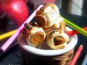 Mini-vegan hot-dogs feuilletés