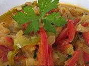 Curry crevettes poivrons l'indienne