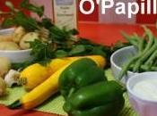 Soupe d'été haricots verts, courgettes poivrons