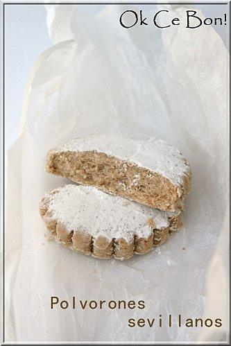 Polvorones sevillanos (petits gâteaux de Noel Andalous)