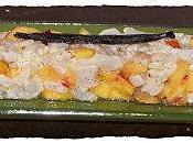 Tartare daurade vanillé nectarines.