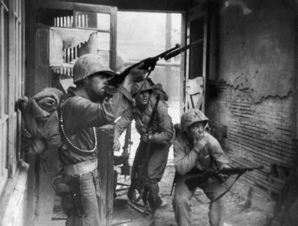 La guerre de Corée (1950-1953).
