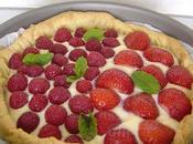 Tarte ricotta framboises fraises