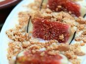 Petites crèmes figues groseilles) brisures d'amaretti