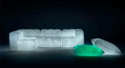 Mobilier gonflable lumineux