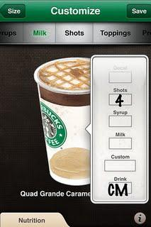 Starbucks card on iPhone : mobile payment + 2D trial