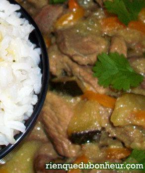 Curry vert Thai à l'épaule de porc