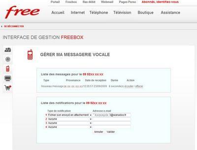 Astuce, Messagerie Freebox