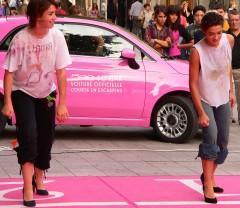 Sophie et Laura pied sur la ligne.JPG