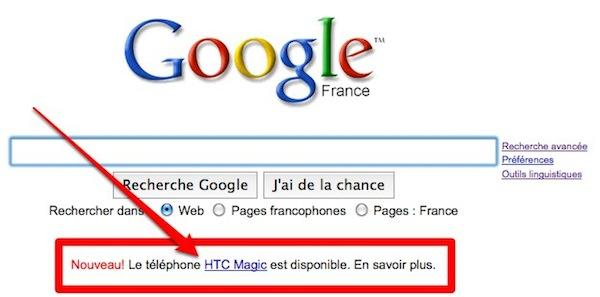 google pub Google vend de la publicité sur sa page d'accueil?