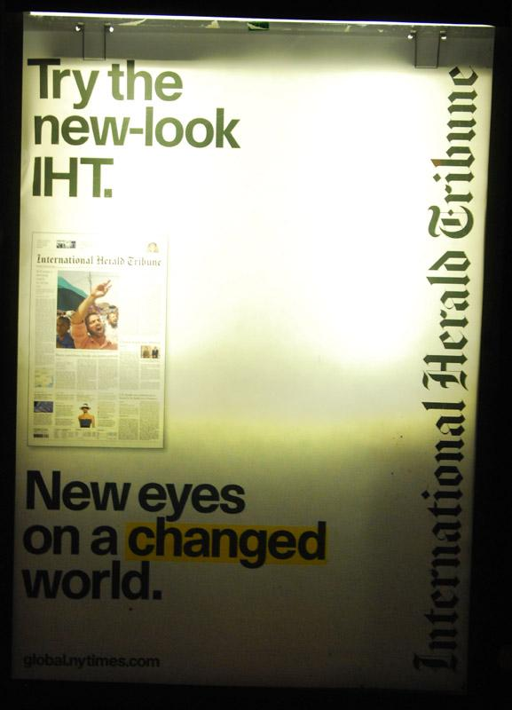 Herald Tribune - New eyes on a change world