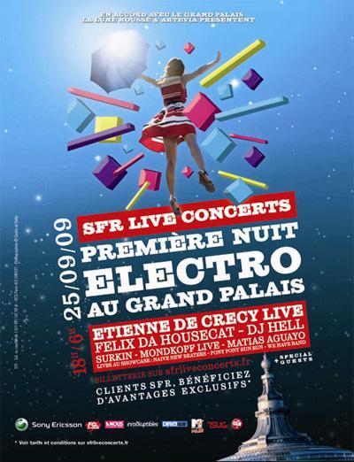 Première Nuit Electro au Grand Palais ... La programmation de malade !