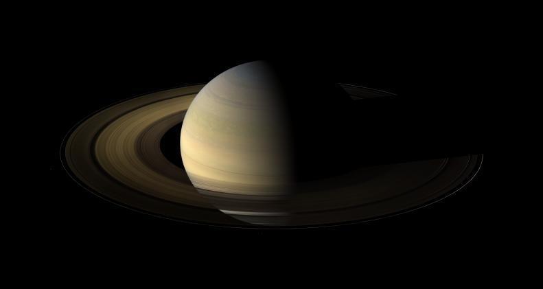 Saturne au moment de l'équinoxe