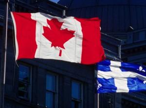 Drapeaux Canada et Québec