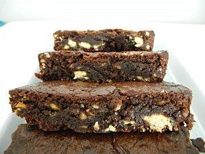 Brownie aux amandes et chocolat blanc