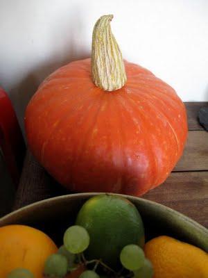 Moelleux au potimarron, aux épices et son coulis d'orange