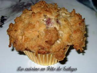 Muffins aux Framboises, banane avec garniture à la Noix de Coco