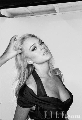 Lindsay Lohan noire et blanche