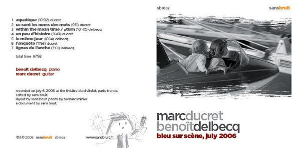 Marc Ducret - Benoit Delbecq : 2 octobre 09 au Triton