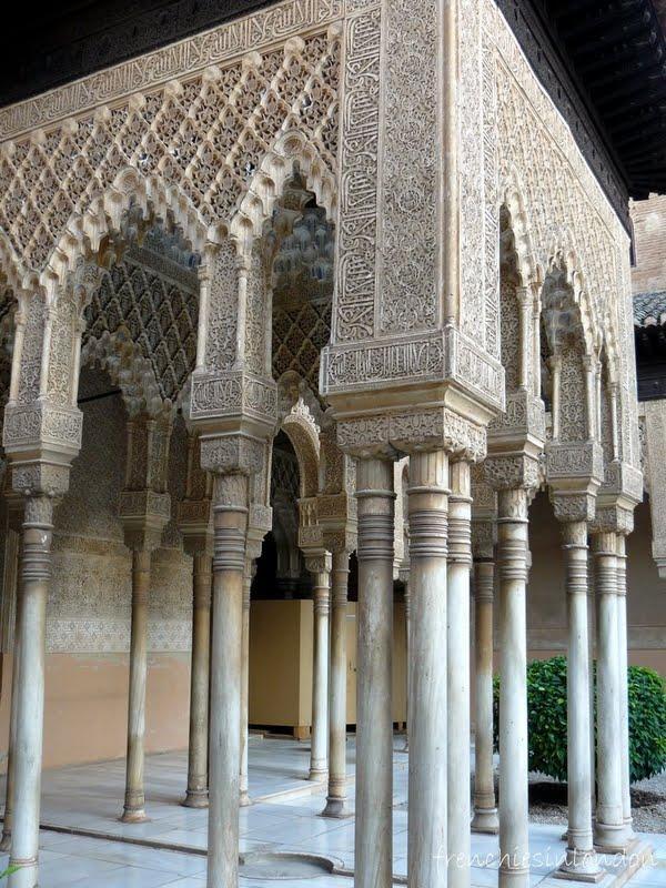 Grenade, l'alhambra, le palais Nasrides