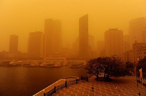 Dust storm in Australia