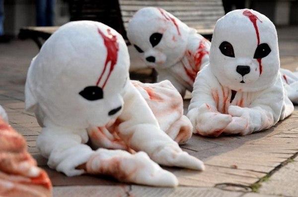 Manifestation de la PETA à Washington