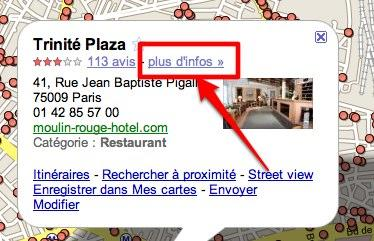 google maps info Google Maps Place Pages: lébauche dun guide touristique